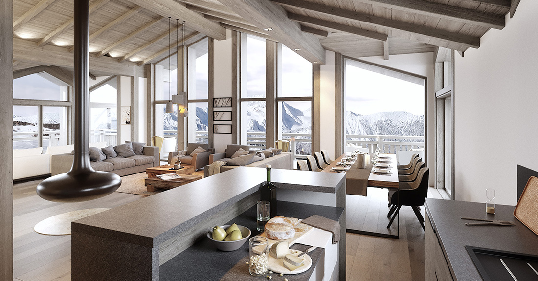 Canyon Lodge - Chalet for sale Courchevel 1650