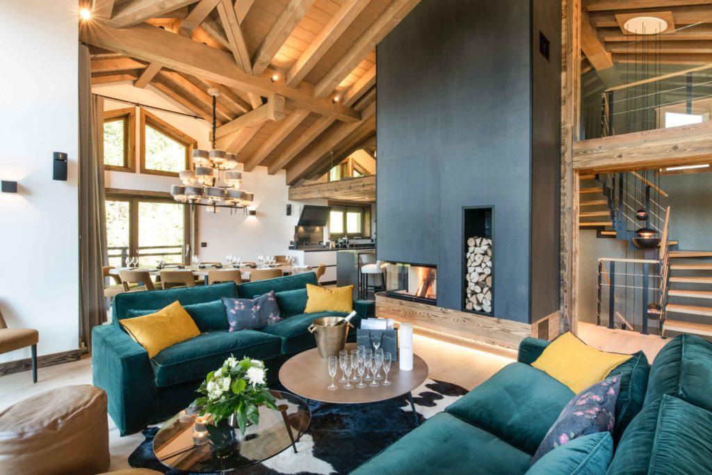 Centenart lodge living room courchevel